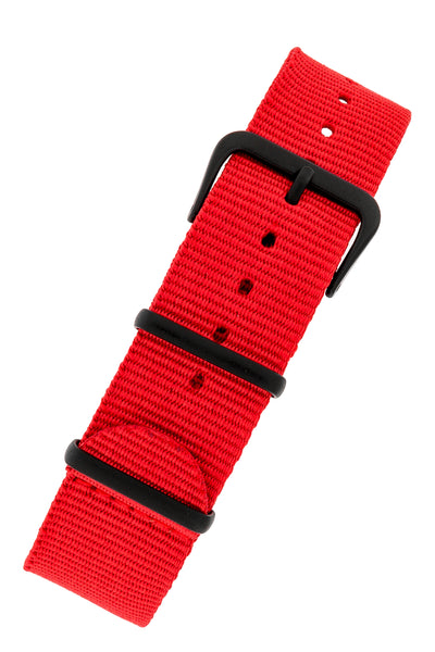 NATO Watch Strap in RED with PVD Buckle and Keepers