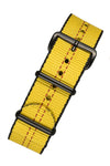 NATO Centre-Stitch Strap in YELLOW with Red Stitch and PVD Buckle & Keepers