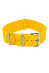 NATO Watch Strap in YELLOW with Polished Buckle and Keepers