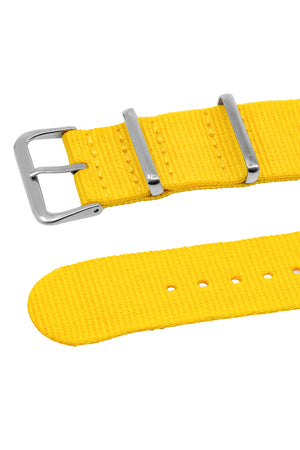 NATO Watch Straps in YELLOW with Polished Buckle and Keepers