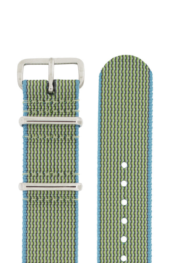 NATO Watch Strap in APPLE GREEN with Polished Buckle and Keepers