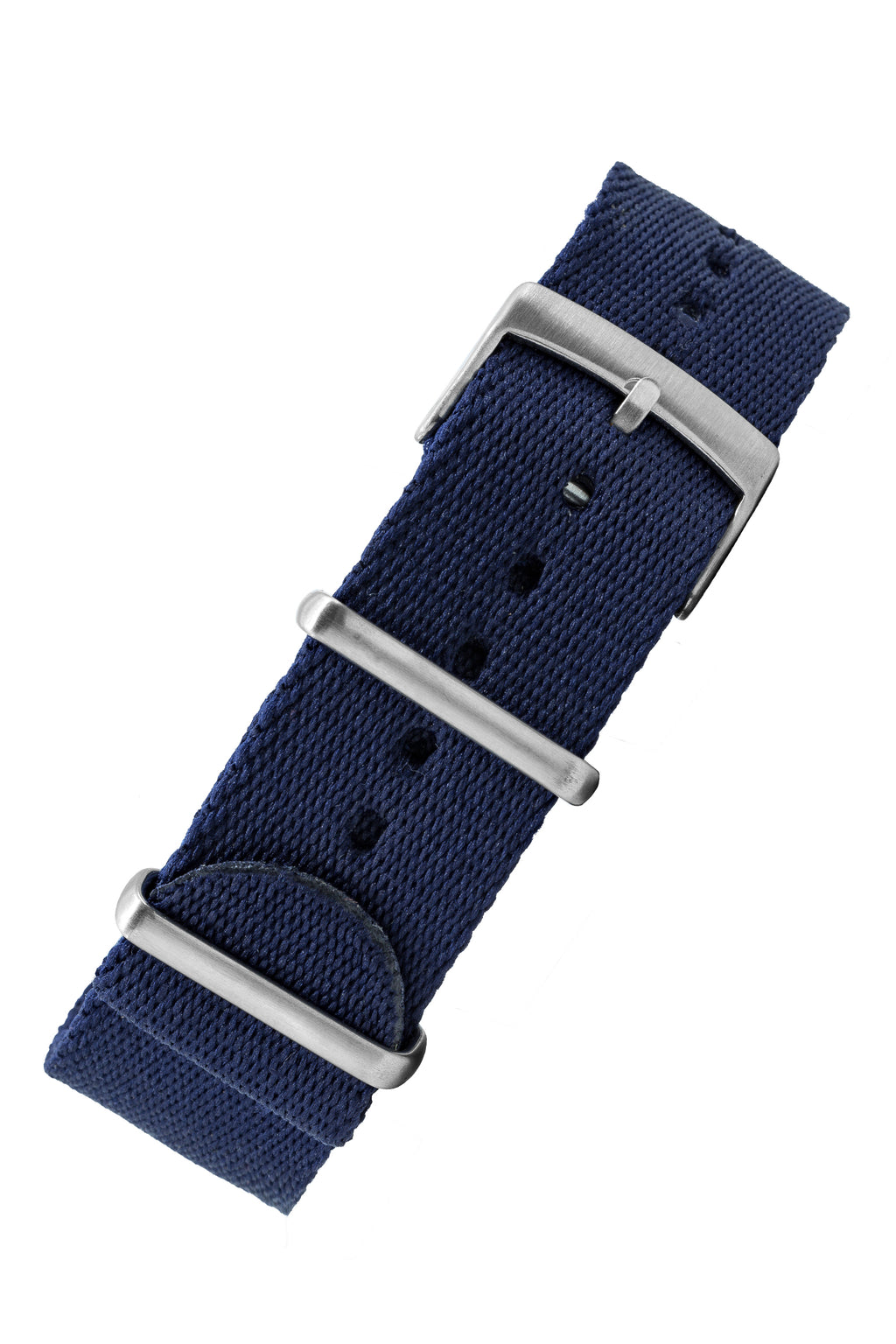 Premium NATO Watch Strap in Navy Blue with Brushed Hardware