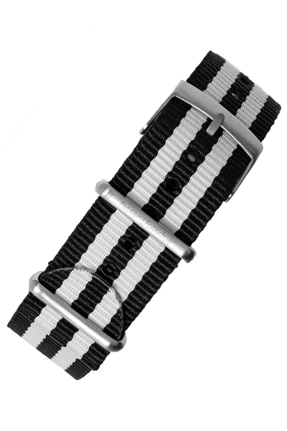 Nato Watch Strap in BLACK with WHITE Stripes - #SpeedyTuesday Edition