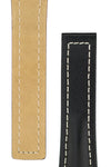 Hirsch NAVIGATOR Calfskin Deployment Watch Strap in BLACK