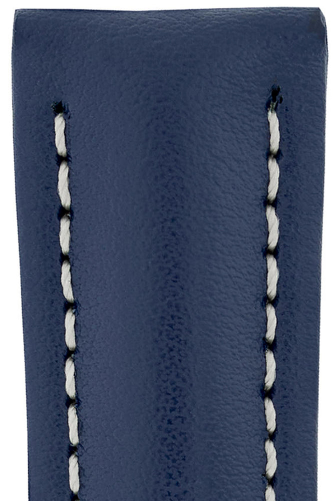 Hirsch NAVIGATOR Calfskin Deployment Watch Strap in BLUE
