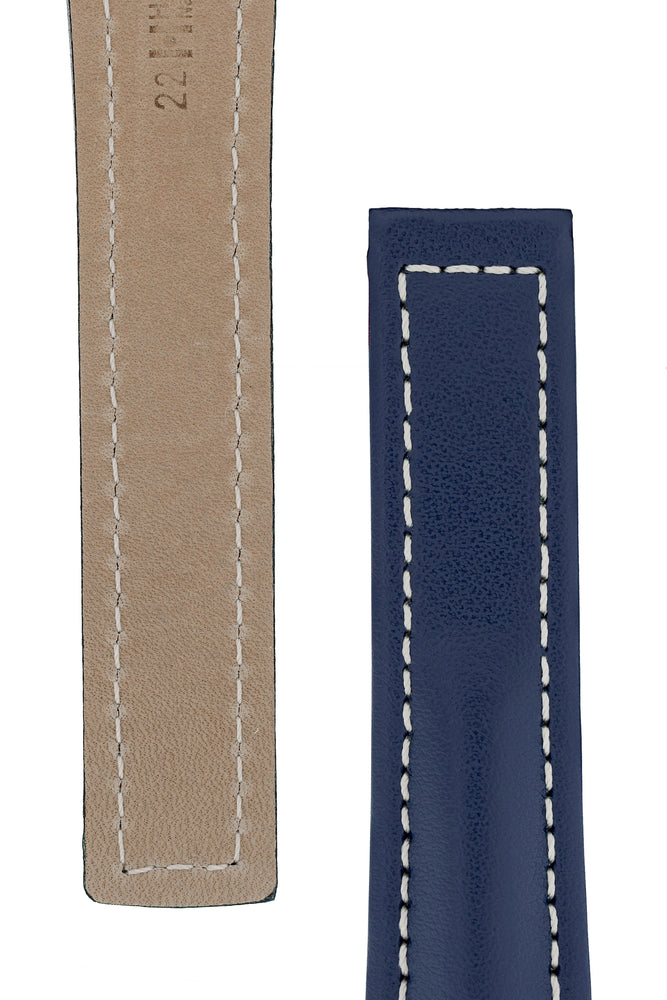 Load image into Gallery viewer, Hirsch NAVIGATOR Calfskin Deployment Watch Strap in BLUE
