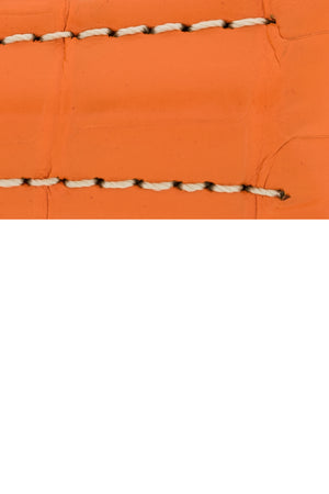 Hirsch Navigator Genuine Alligator Deployment Watch Strap in Orange (Close-Up Texture Detail)