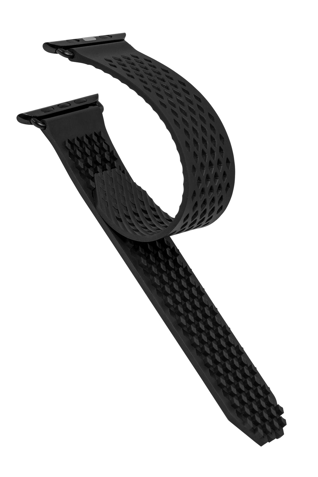 Noomoon LABB Interlocking Watch Strap for Apple Watch in BLACK with BLACK Hardware