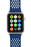 Noomoon LABB Interlocking Watch Strap for Apple Watch in BLUE with SILVER Hardware