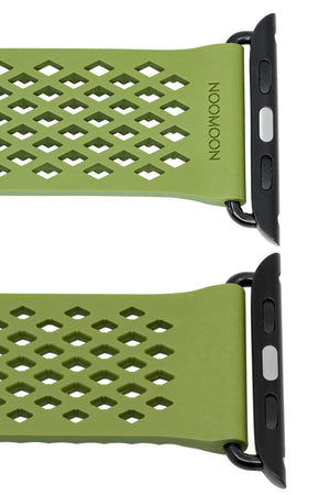 Noomoon LABB Interlocking Watch Strap for Apple Watch in GREEN with BLACK Hardware