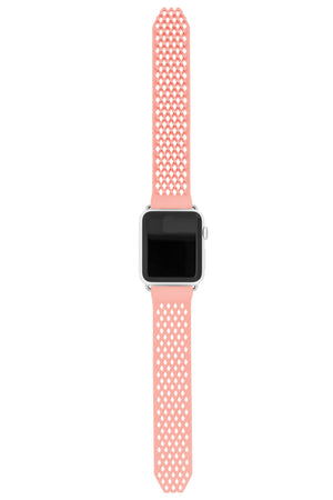 Noomoon LABB Interlocking Watch Strap for Apple Watch in NUDE with SILVER Hardware