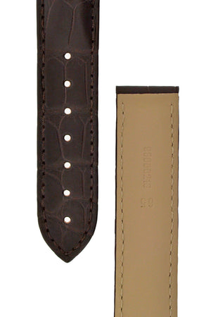 OMEGA 98000216 Speedmaster Alligator Leather Deployment Watch Strap in BROWN