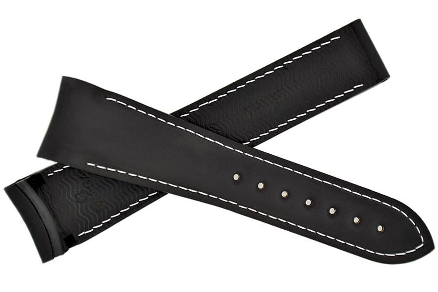 OMEGA 98000296 Planet Ocean Deployment Rubber Watch Strap in 22mm – Black/White