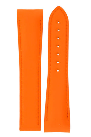 Load image into Gallery viewer, OMEGA Planet Ocean Deployment Rubber Watch Strap in ORANGE