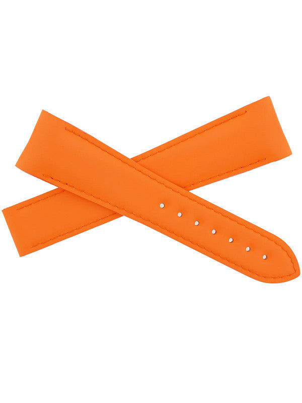 OMEGA Planet Ocean Deployment Rubber Watch Strap in ORANGE