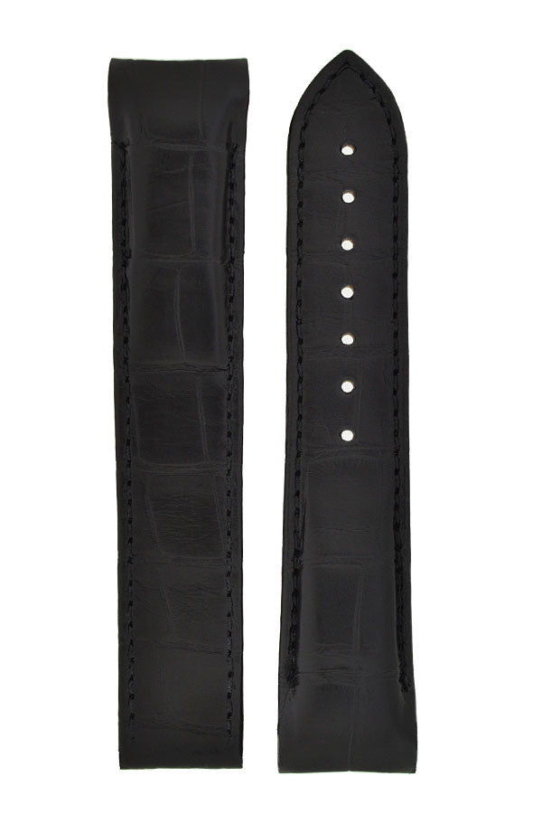 OMEGA Planet Ocean Alligator Deployment Watch Strap in BLACK