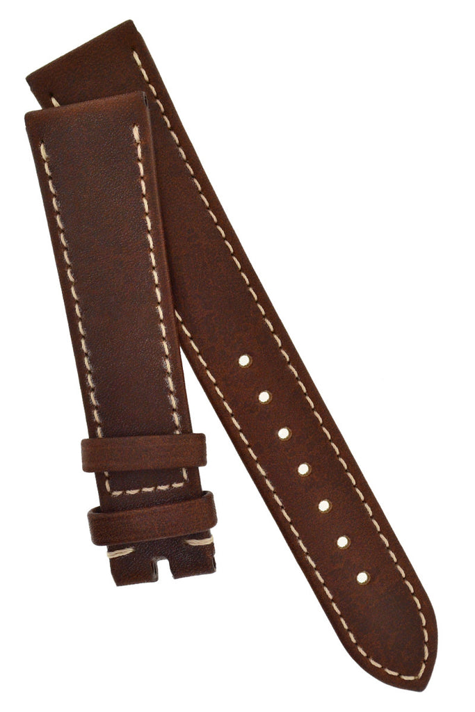 OMEGA Calf Leather Watch Strap in MID BROWN