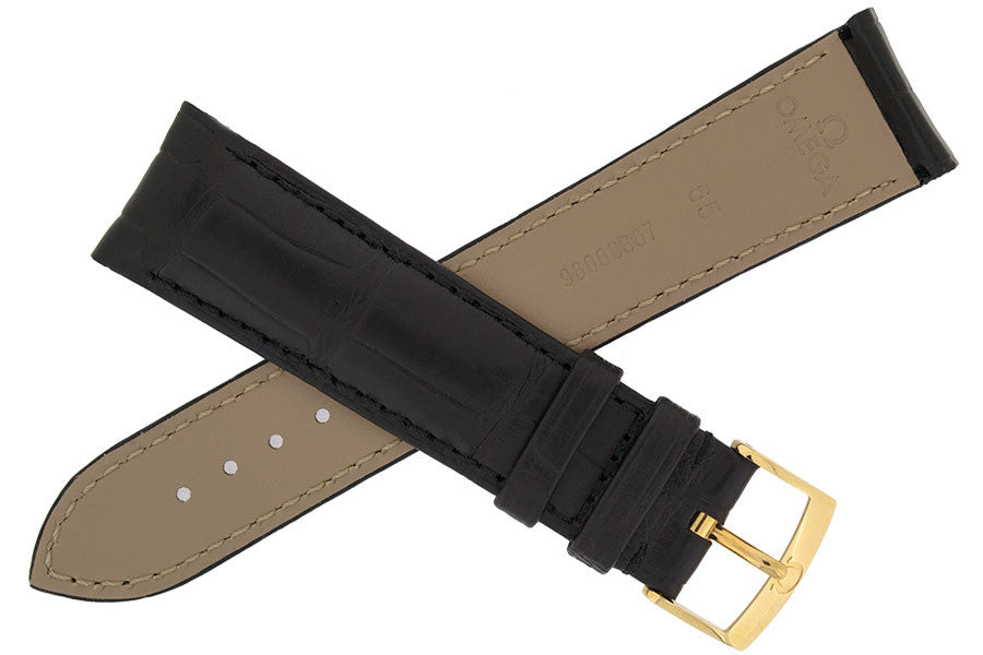 OMEGA Alligator Leather Watch Strap and Buckle - 98000367S