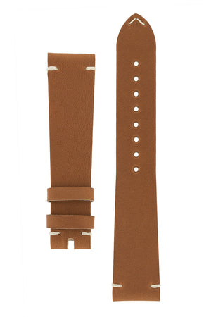 OMEGA '1957' Vintage Style Leather Watch Strap in GOLD BROWN