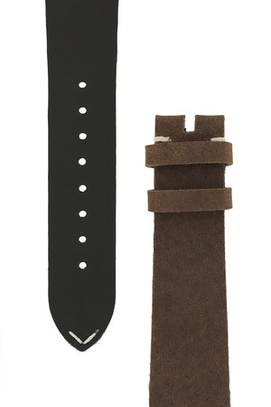 OMEGA '1957' Vintage Style Leather Watch Strap in BROWN