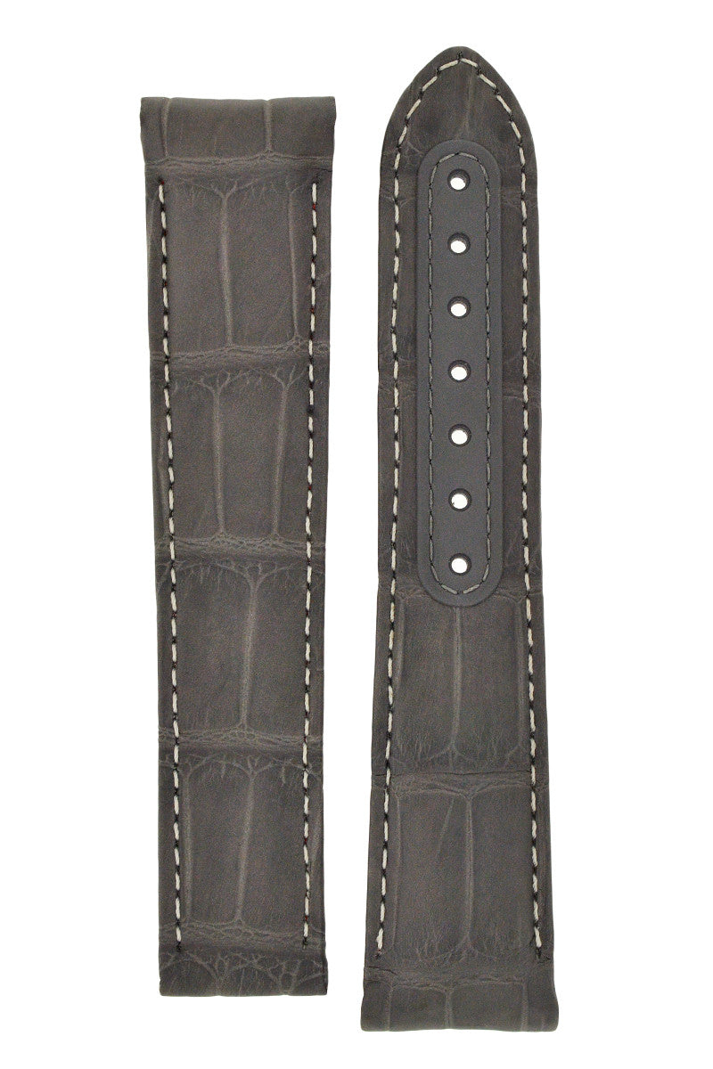 OMEGA CUZ004450 Grey Side of the Moon Alligator Deployment Watch Strap