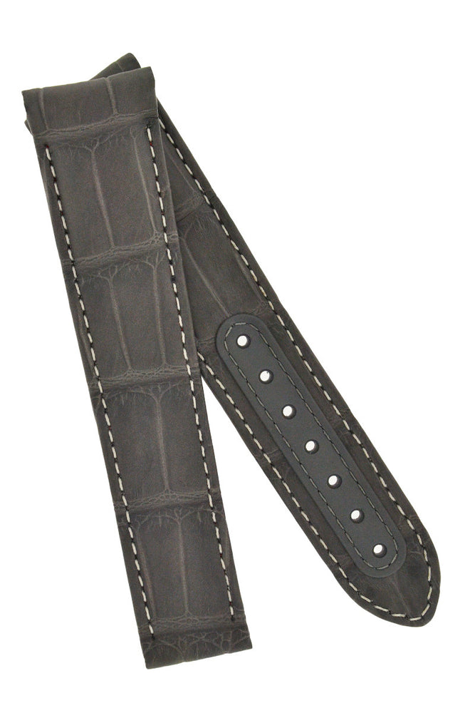 Load image into Gallery viewer, OMEGA CUZ004450 Grey Side of the Moon Alligator Deployment Watch Strap