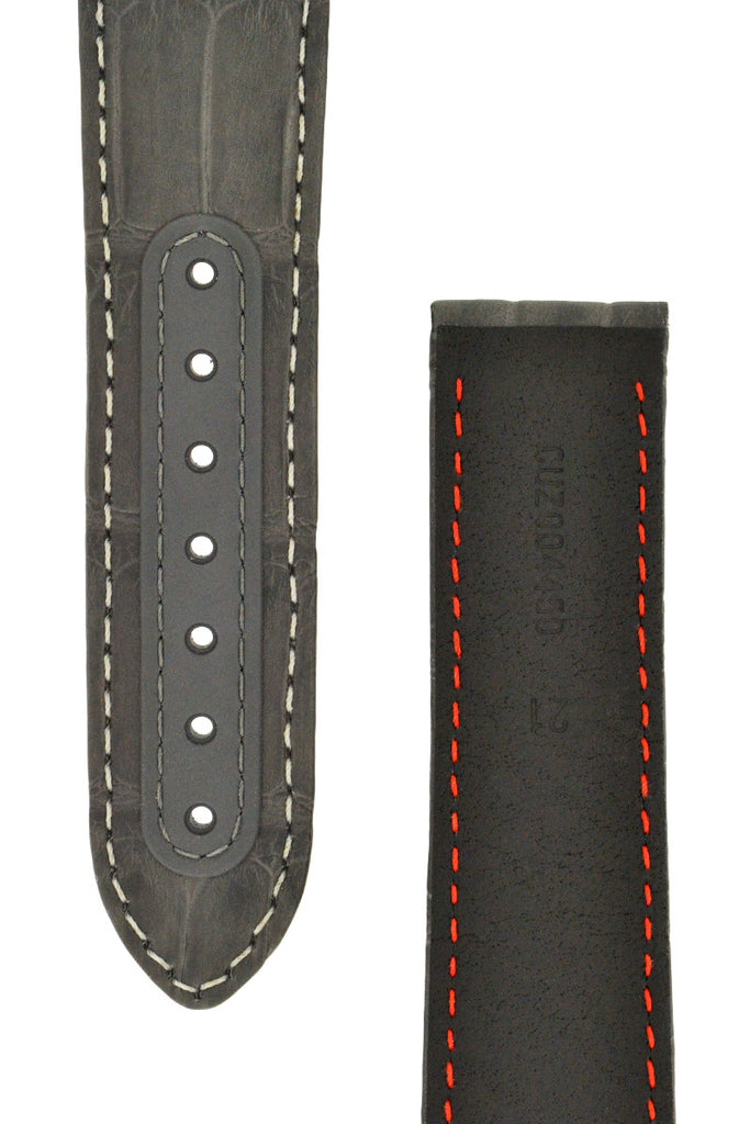 OMEGA Grey Side of the Moon Alligator Deployment Watch Strap
