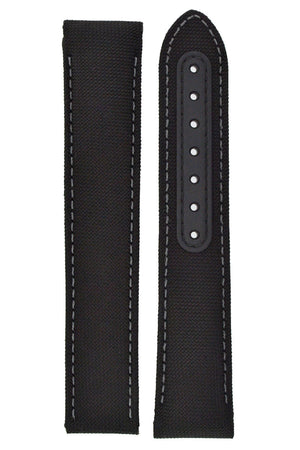 OMEGA 'Aqua Terra' Cordura Nylon Watch Strap in BLACK