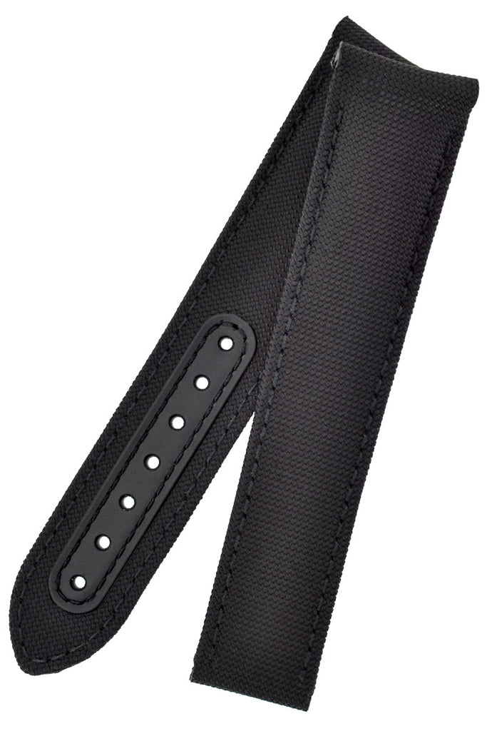 OMEGA 'Black Black' MoonWatch Black Deployment Nylon Watch Strap