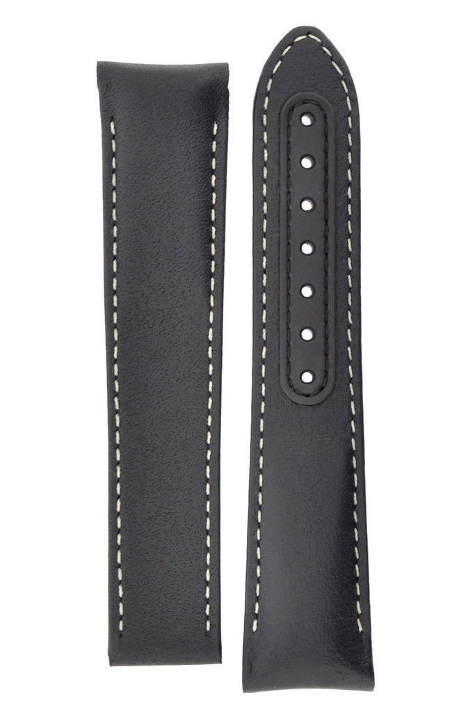 OMEGA 'Pitch Black' MoonWatch Black Deployment Calf Watch Strap