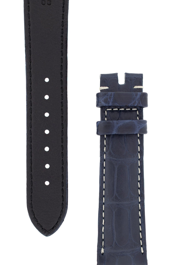 OMEGA Speedmaster 'CK2998' Alligator Leather Watch Strap in BLUE