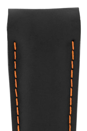 Load image into Gallery viewer, OMEGA Planet Ocean Deployment Rubber Watch Strap in BLACK / ORANGE