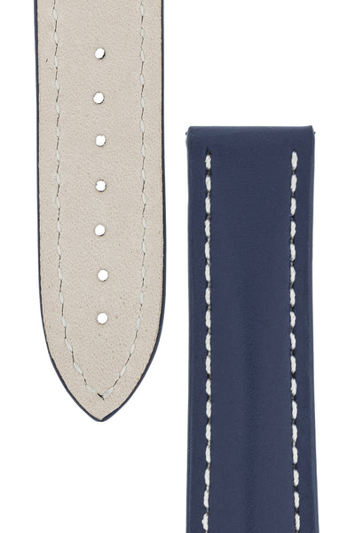 Omega Style Calf Deployment Watch Strap In Blue