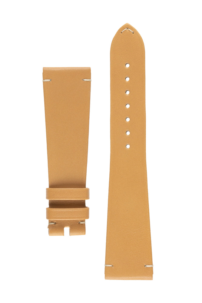 OMEGA CUZ014662 Vintage Style 21mm Leather Watch Strap in GOLD BROWN