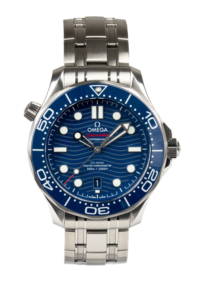 OMEGA Seamaster Professional Diver 300m Co-Axial Master Chronometer - 210.30.42.20.03.001 - Blue Wave Dial
