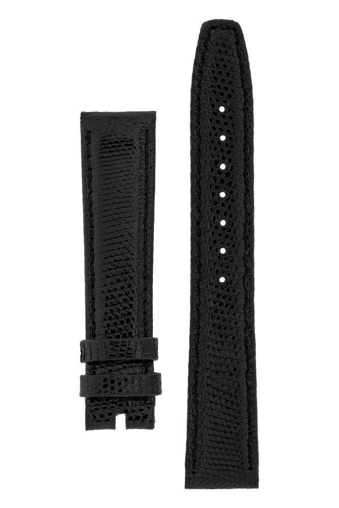 OMEGA GLST18160 Vintage Genuine Lizard Watch Strap in BLACK