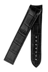 OMEGA 98000368L Planet Ocean Curved-Ended Alligator 22mm Deployment Watch Strap (Chrono) - BLACK