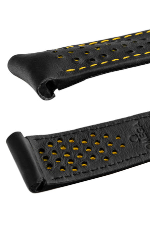 Load image into Gallery viewer, OMEGA CUZ010862 Speedmaster Apollo 8 Perforated Leather Watch Strap in BLACK & YELLOW
