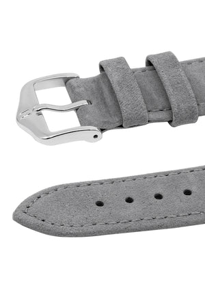 Hirsch Osiris Calf Leather With Nubuck Effect Watch Strap in Grey (Keepers)