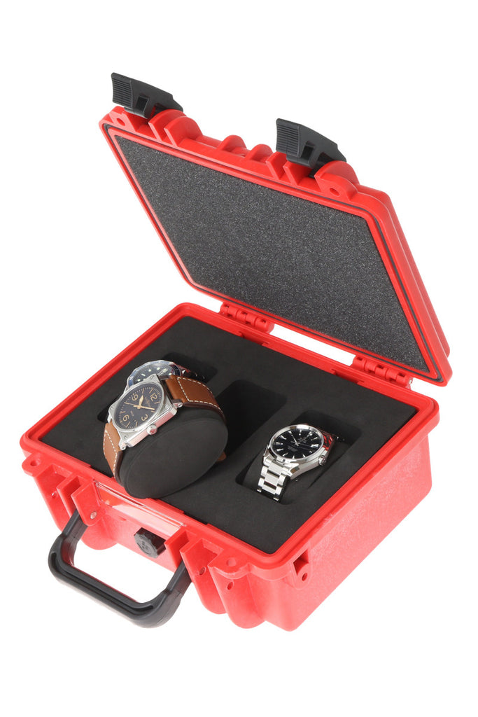 WatchObsession Oyster Three Watch Travel Case in Red - Series 3/0