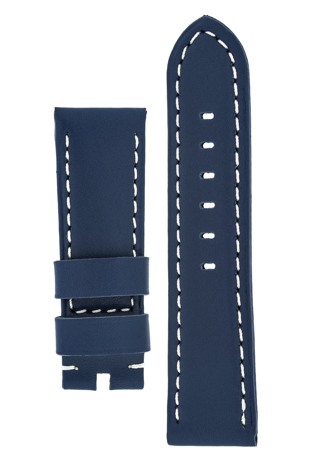 Panerai-Style Calf Leather Watch Strap in BLUE