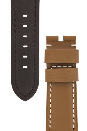 Panerai-Style Calf Leather Watch Strap in CARAMEL