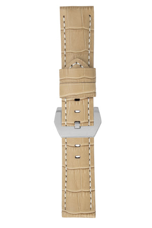 Load image into Gallery viewer, Panerai-Style Alligator-Embossed Watch Strap in BEIGE