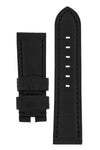 Panerai-Style Alligator-Embossed Watch Strap in BLACK / BLACK