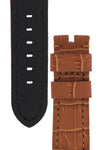 Panerai Style Alligator-Embossed Watch Strap in BROWN / BROWN