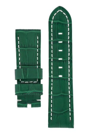Panerai-Style Alligator-Embossed Watch Strap in GREEN