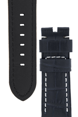 Panerai-Style Alligator-Embossed Watch Strap in NIGHT BLUE