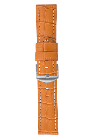 Panerai-Style Alligator-Embossed Watch Strap in ORANGE