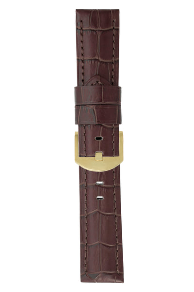 Panerai-Style Alligator-Embossed Watch Strap in TABAC / TABAC
