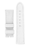 Panerai-Style Alligator-Embossed Watch Strap in WHITE